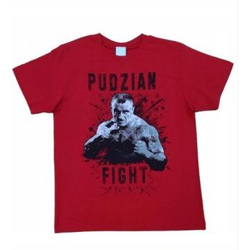 Koszulka Pudzian Fight KSW MMA czerwona+autograf