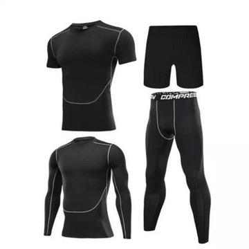 Zestaw - ubranie sportowe kompresyjne Rozmiar S/M