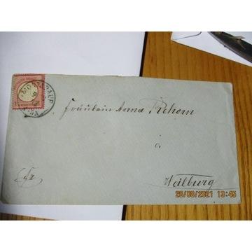 koperta NIEMCY DEUTSCHES REICH 1873 znaczek