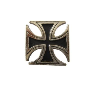 duży pin przypinka metalowa Krzyż Rycerski Żelazny