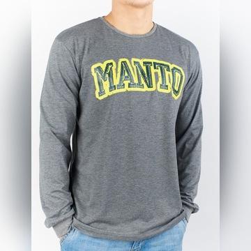 Bluza longsleeve t-shirt Manto Solid szara M W-wa