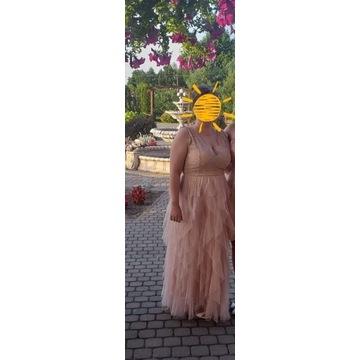 Sukienka kryjąca brzuch tiul rozm. 42/44 wesele