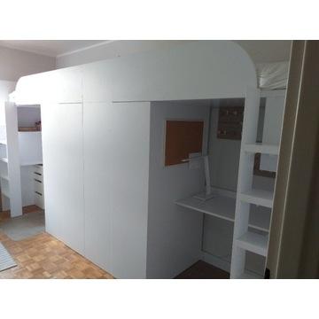 Zestaw PRAWY mebli 3w1 szafa, biurko, łóżko antres