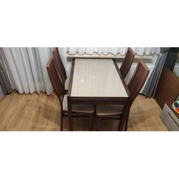 Stół Finezja +cztery krzesła Finezja paget meble