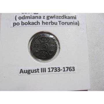 Polska szeląg August III 1763 Toruń