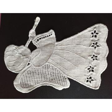 anioł aniołek haftowany ozdoba anioł stróż