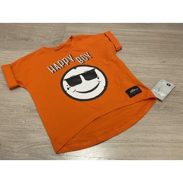 T-shirt chłopięcy Happy BOY orange 98-140 nowa