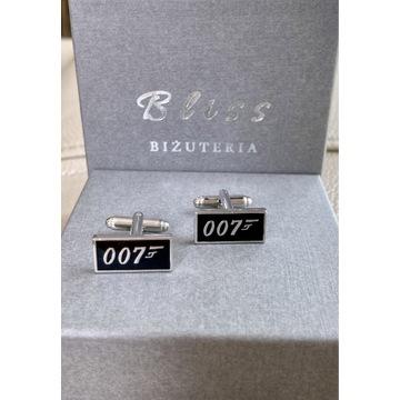 Spinki do mankietów Agent 007 stalowe