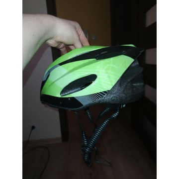 Zielono-czarny kask rowerowy Martes