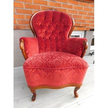 Fotel czerwony w stylu rokoko nr 36 Fiaf
