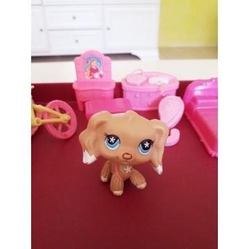 LPS LITTLEST PET SHOP figurka pies plus dodatki