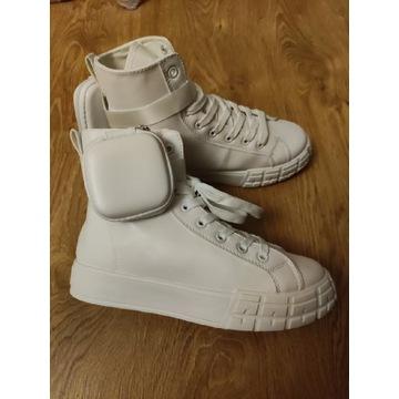 Buty sneakersy białe z ekoskórki r.37 NOWE