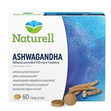 NATURELL Ashwagandha 140 mg 60 tabletek na stres