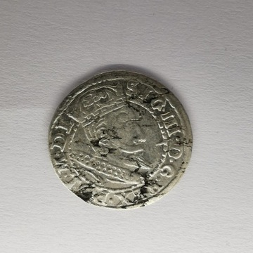Grosz koronny 1607 Kraków Zygmunt III Waza rzadki