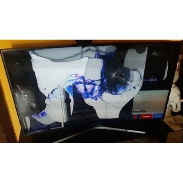 Smart TV samsung 55cali zakrzywiany Uszkodzony