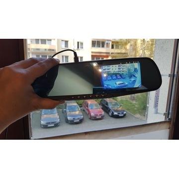Wideo rejestrator 2 kamery samochodowy cofania