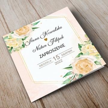 Zaproszenie na wesele 14x11,5 cm