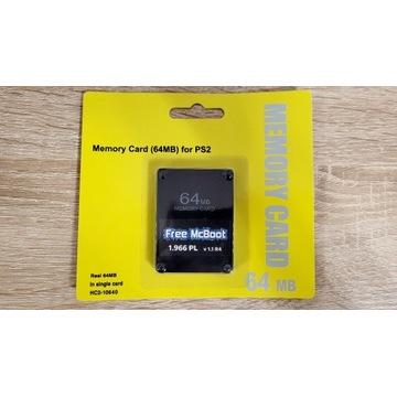 Karta pamięci 64MB PS2 FMCB 1.966 PL Każda PS2