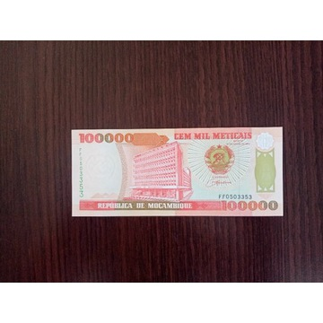 Mozambik 100000 meticais - UNC