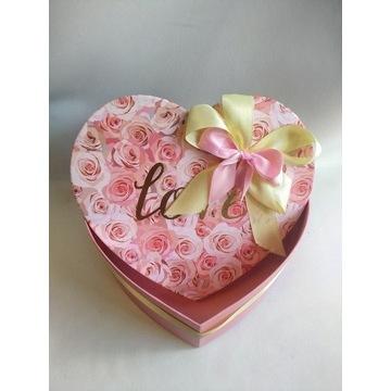 Pudełko ozdobne * Serce * Prezent * Flower box