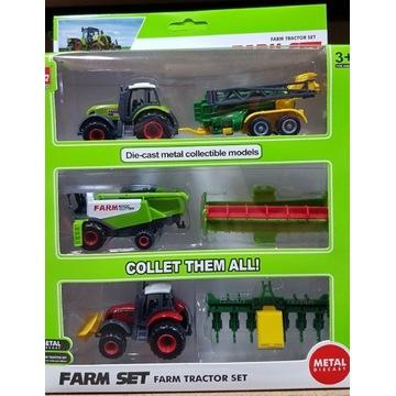 Zestaw Farmerski Traktory i Maszyny rolnicze