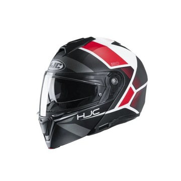Kask hjc i90 hollen black/white/red