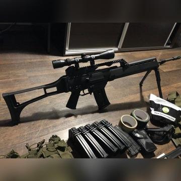 g36 specna arms zestaw ASG luneta precka bateria