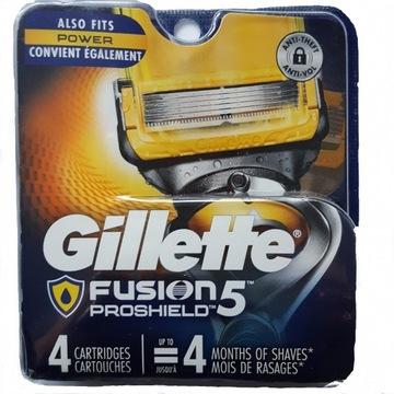 Gillette Fusion PROSHIELD 4 szt ostrza do maszynek