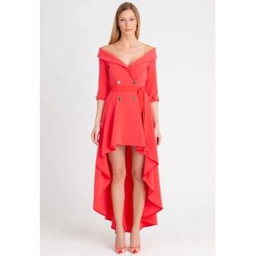 Sukienka wieczorowa Elisabetta Franchi kolor beż