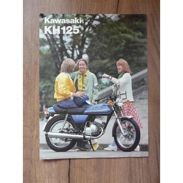 Motor Kawasaki KH 125 prospekt wydanie angielskie