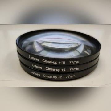 Zestaw soczewek makro 77 mm ETUI +2 +4 +10 3w1