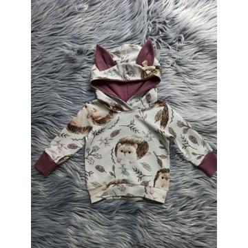 Bluza dresowa jeżyki na ecru 86 -110