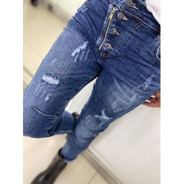 By o la la jeansy zamek i guziki rozmiar L