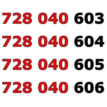 728 040 60x ŁATWY ZŁOTY NUMER STARTER x 4