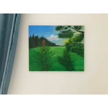 Leśna polana obraz akrylowy 38x48 cm