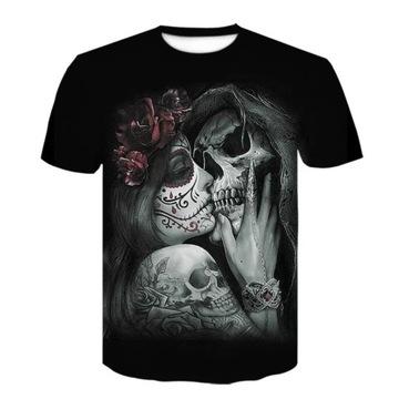 Koszulka L czarna Santa Muerte unisex