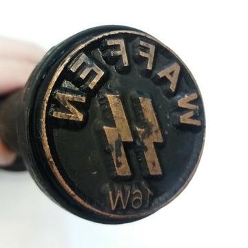 Stempel nazistowski z Waffen-SS