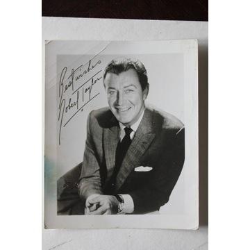 autograf autograph Robert Taylor