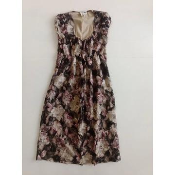 Sukienka ciążowa koronkowa w kwiaty rozmiar M 38 t