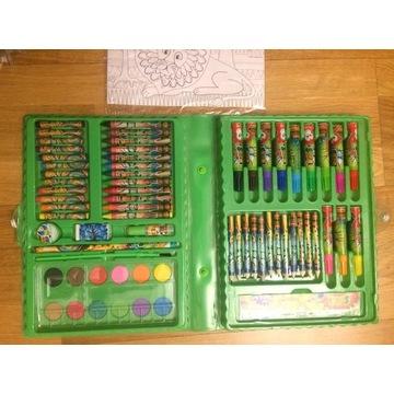 Pisaki, farby, kredki - zestaw