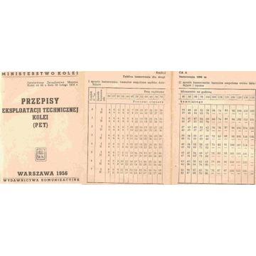 PKP -PRZEPISY EKSPLOATACJI TECHNICZNEJ KOLEI -1956