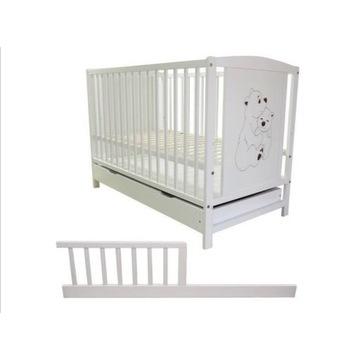Łóżeczko niemowlęce tapczanik z szufladą Bajka