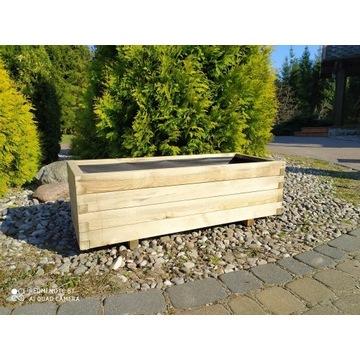 Donica z drewna skrzynia drewniana 100x40 wkład