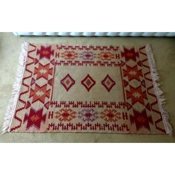 Rustykalny chodnik, kilim, afgan, ręcznie tkany