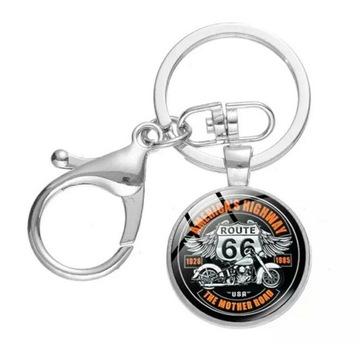 """Brelok do kluczy motocyklowy """"Route 66"""""""