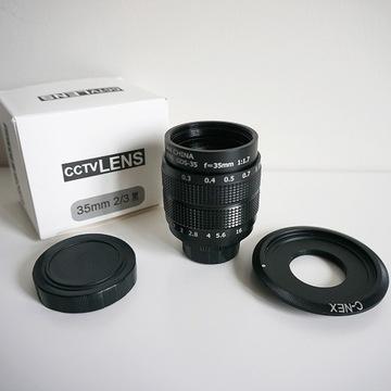Obiektyw Fujian 35mm f/1.7 + adapter Sony E C-NEX