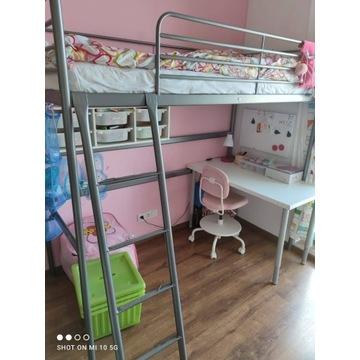 Łóżko na antresoli Svarta IKEA + materac + GRATISY