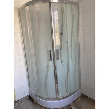 Kabina prysznicowa z brodzikiem-15 cm