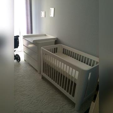 Troll Sun 120x60 zestaw łóżeczko komoda przewijak