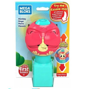 Klocek Akuku GKX45 Mega Bloks małpka